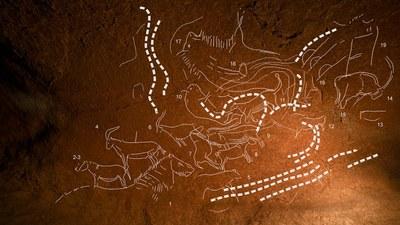 Duela 14.000 urteko grabatu multzoa aurkitu dute Lekeitioko Armintxe koban