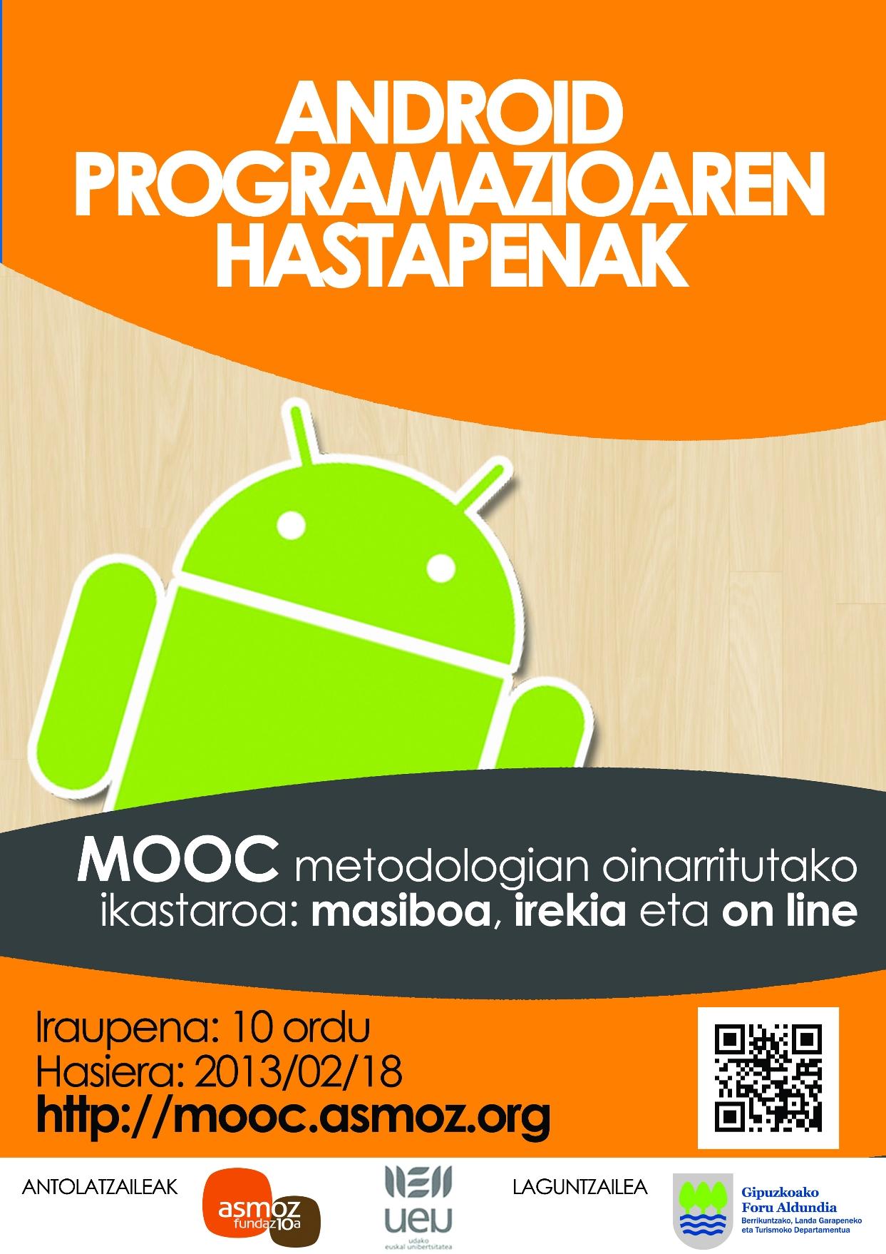"""""""Android programazioaren hastapenak"""" ikastaroa on-line"""