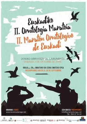 Euskadiko II. Ornitologia maratoia urriaren 1ean