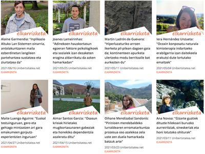 Euskal ikertzaile gazteen lanen berri klik batean