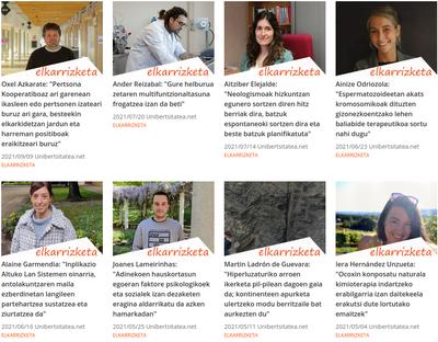 Euskal ikertzaile gazteen lana klik batean
