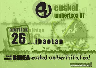 Euskal Unibertsoa 07 ospatuko da bihar Ibaetako campusean