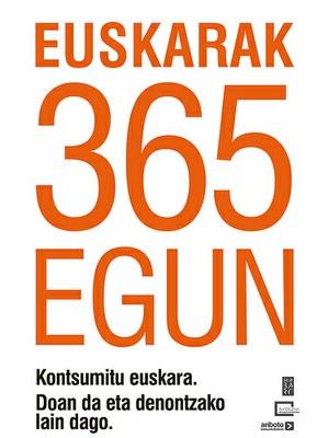 Euskararen eguna urtean 365 egun: izan gaitezen hizkuntza eredu urte osoan