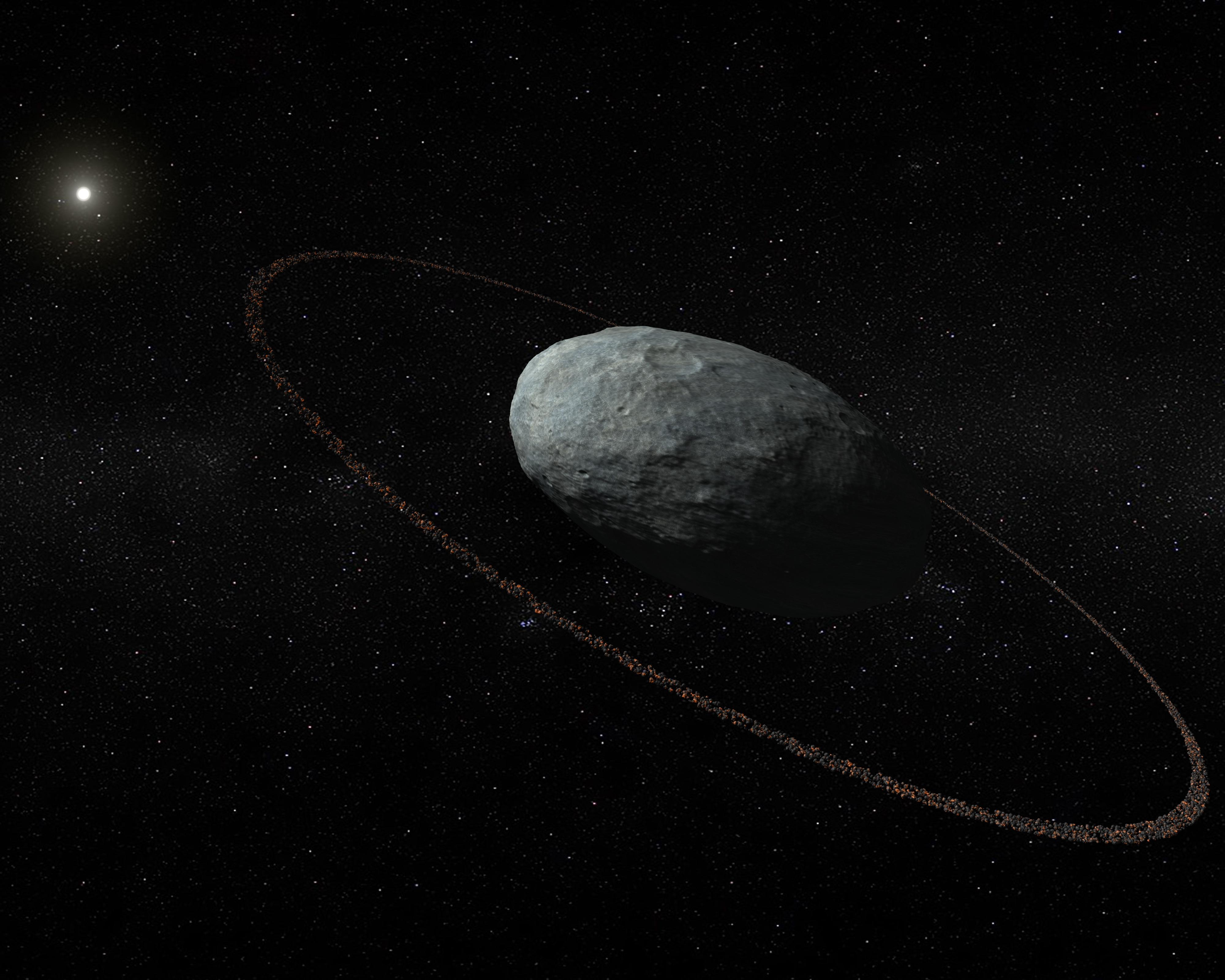 Haumea planeta bitxiak eraztuna du