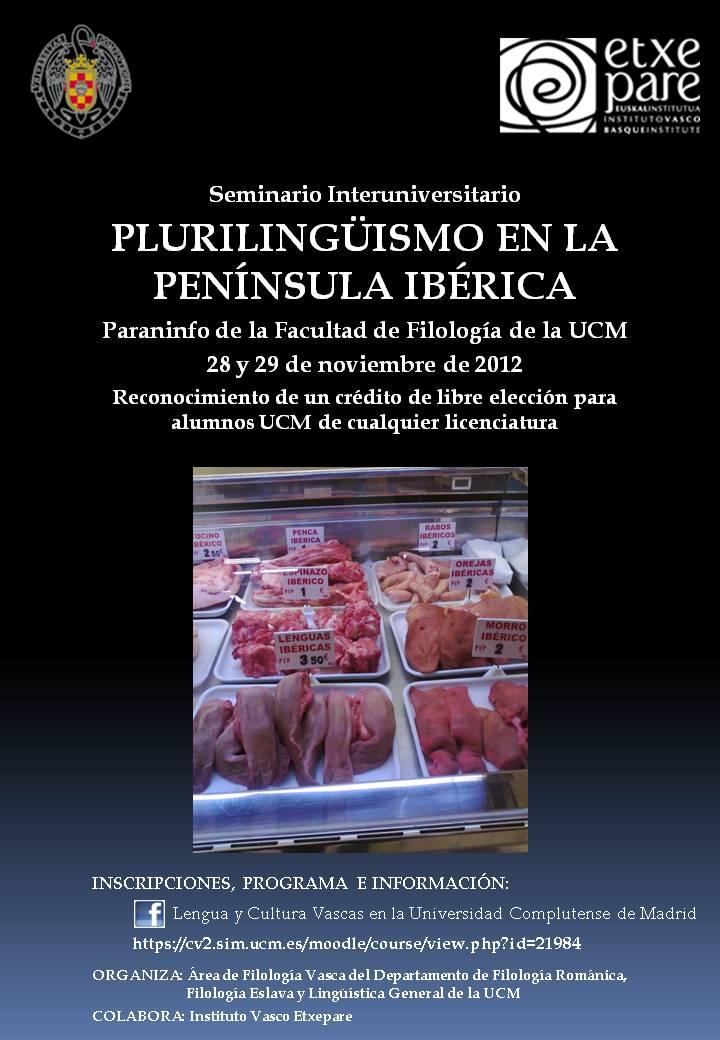 Iberiar Penintsulako eleaniztasunari buruzko mintegia Madrileko Complutensean