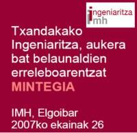 """""""Txandakako Ingeniaritza, aukera bat belaunaldien arteko erreleboarentzat"""" mintegia antolatu du IMHk"""