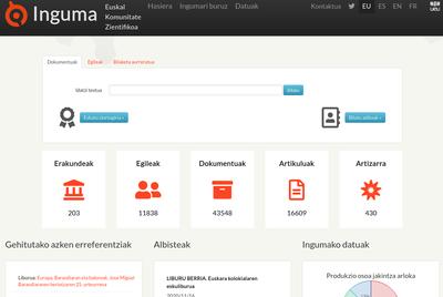 Inguma, euskal komunitate-zientifikoaren datu-basearen webgunea berritu dute