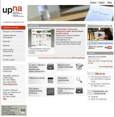 UPNA/NUPko web gunea eraberrituko dute aurten