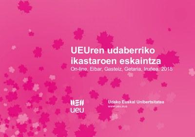Komunikazioa, informatika, hezkuntza, agroekologia, pedagogia, feminismoa... aukera anitz UEUk udaberrirako prestatutako ikastaroetan