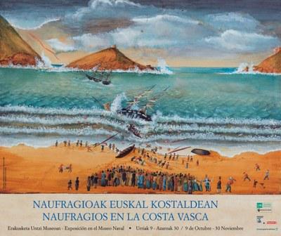 Naufragioak Euskal Kostaldean erakusketa Donostiako Untzi Museoan