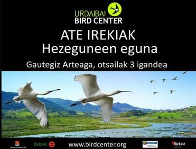 Nazioarteko Hezeguneen Egunarekin bat egingo du igandean Urdaibai Bird Centerrek