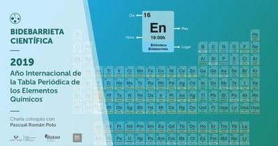 Pascual Román Polo kimikariak Taula Periodikoaren nondik norakoak azalduko ditu Bilbon