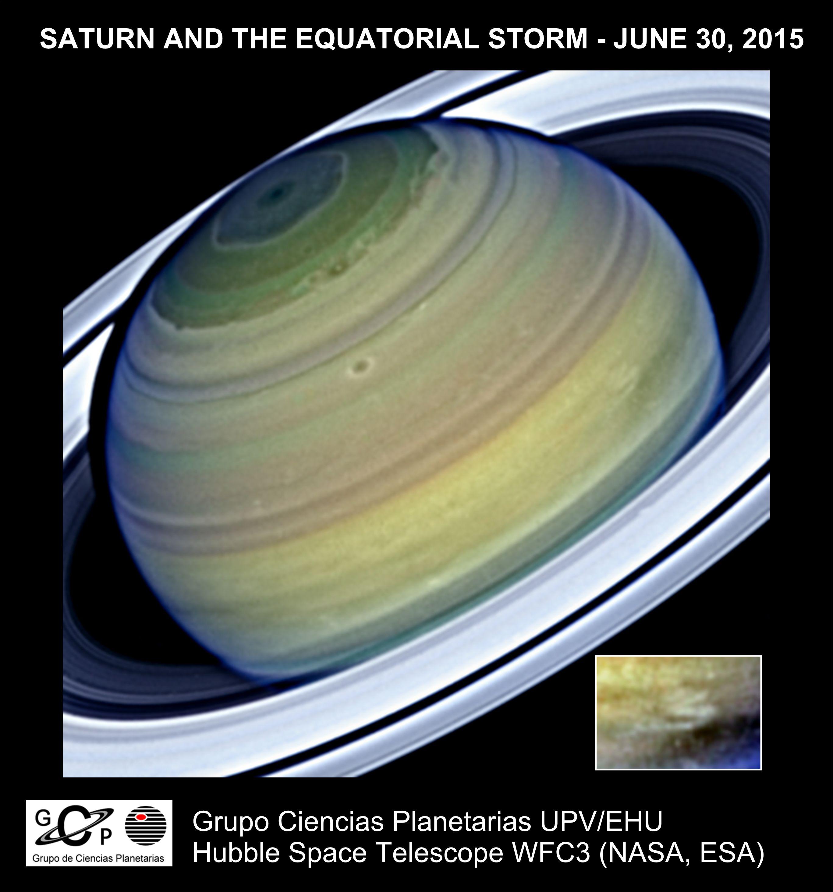 Saturnoko jet korronte handiaren berezitasunak aztertu ditu UPV/EHUko ikerlari talde batek