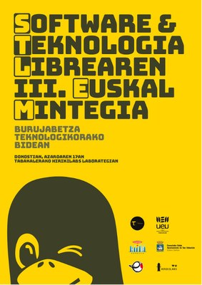 Software eta Teknologia Librearen III. Euskal Mintegirako izena emateko epea zabalik