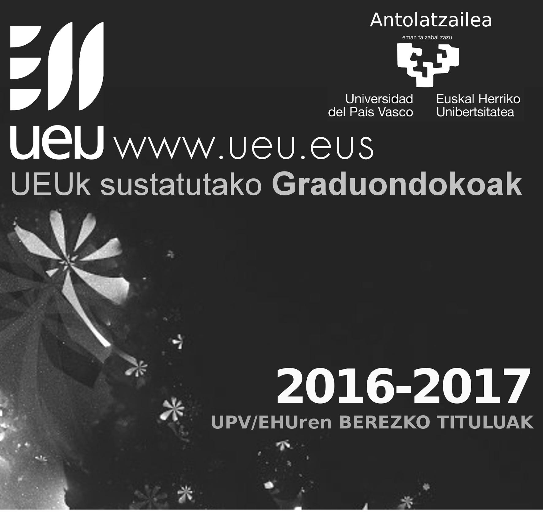 UEUk bost Berezko Titulu sustatuko ditu UPV/EHUn