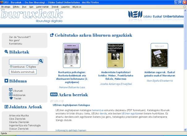UEUk BURUXKAK liburutegi digitala aurkeztu du