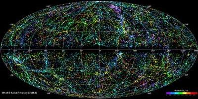 Unibertsoaren 3D mapa aurkeztu dute astronomo britainiarrek