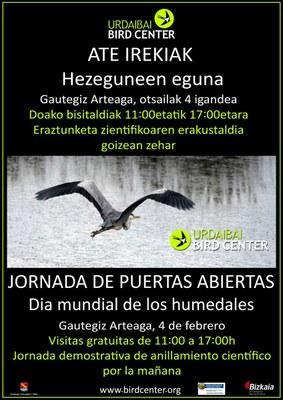 Urdaibai Bird Centerrek Hezeguneen Mundu Mailako Eguna ospatuko du igandean