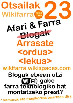 Wikifarra %100 irekia Arrasaten