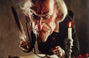 Ebenezer Scrooge, Charles Dickens-ek asmatutako pertsonai berekoi eta iluna.