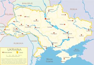 3.- Irudia: Ukrainiako mapa. Iturria: Wikipedia