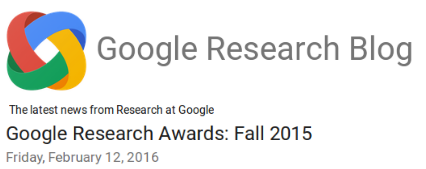 GoogleResearchAwardFall2015