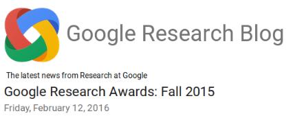 GoogleResearchAwardFall2015