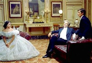 Claudia Cardinale, Burt Lancaster eta Alain Delon Il Gattopardo-n (Wikipedia)