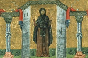 Melania_the_Younger_nun_of_Rome_Menologion_of_Basil_II