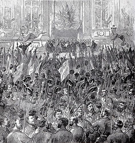 Parisko Komuna (1871ko martxoa). Egile ezezaguna (Wikipedia)