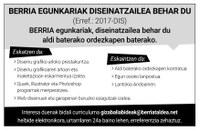 Berria egunkariak diseinatzailea behar du