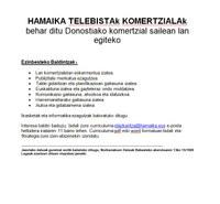 Hamaika Telebistak komertzialak behar ditu Donostiako komertzial sailean lan egiteko